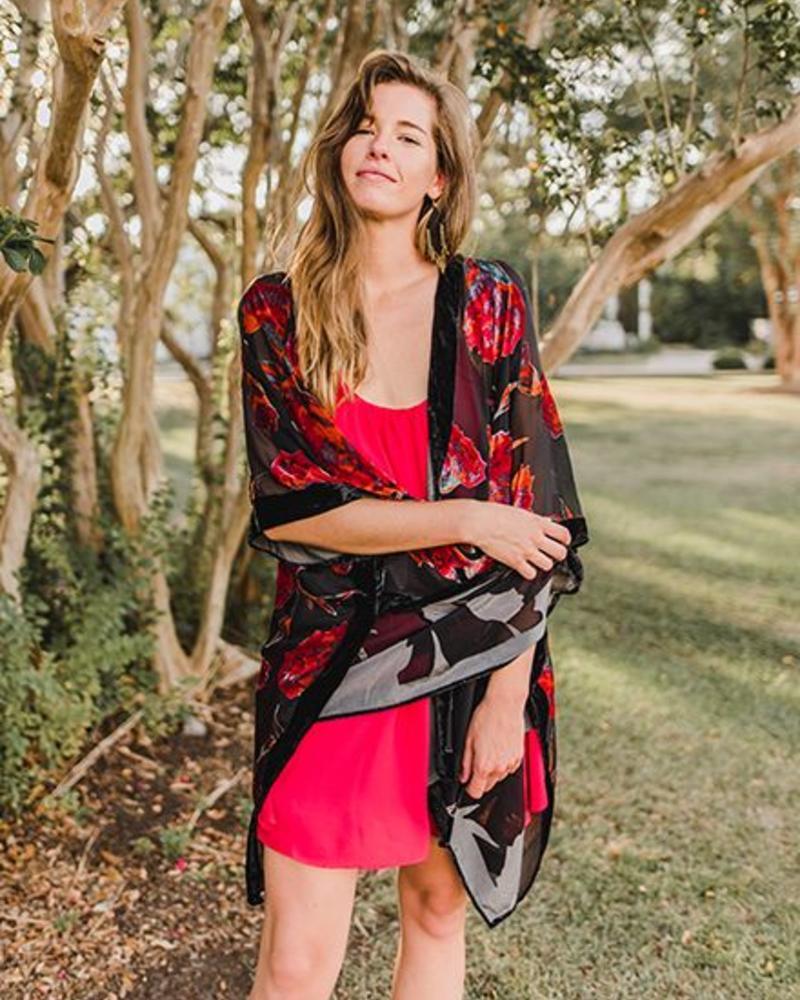 Love Stitch - Kati Burnout Kimono