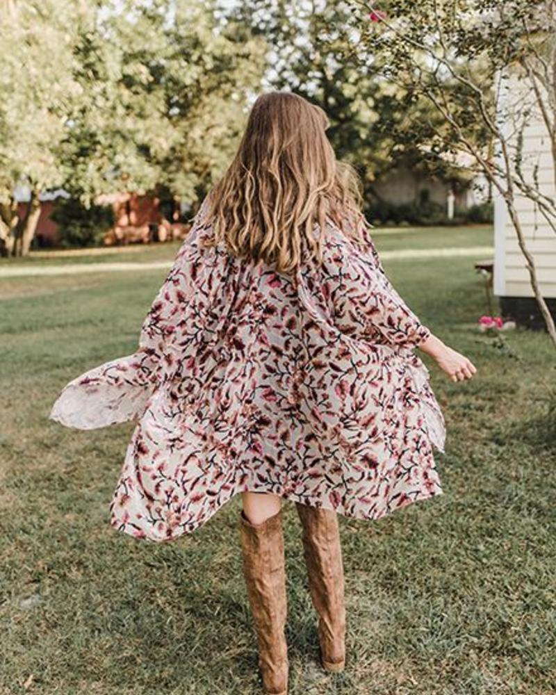 Love Stitch - Lela Burnout Kimono