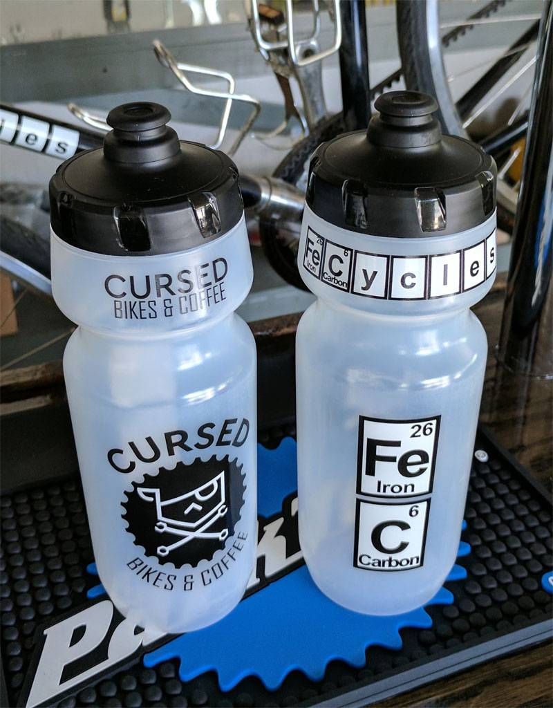 24 Oz. Cursed Bikes & Coffee  W/ FeCycles Water Bottle