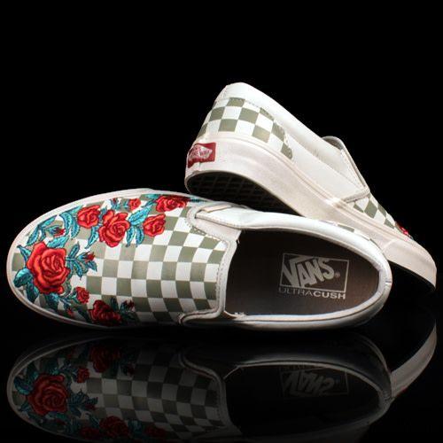 VANS Vans Slip On Classic DX Rose Embroidery Marshmellow