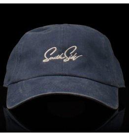 Southside Southside Hat Script Washed Steel Blue