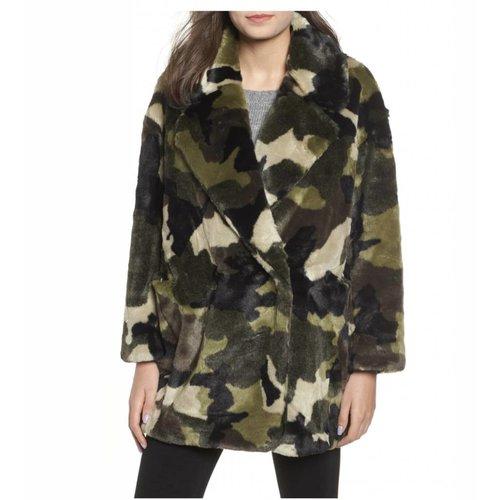 NVLT Camo Faux Fur Jacket