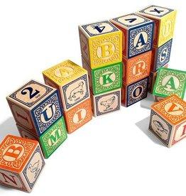 playtime wooden ABC blocks (Italian) w/ canvas bag
