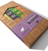 playtime wooden ABC blocks (Spanish) w/ canvas bag