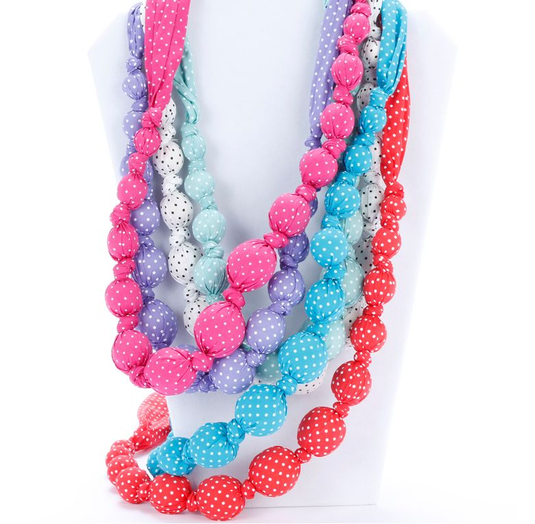 fashion accessory beaded cloth sprinkle dot necklace