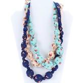 fashion accessory zz beaded cloth owlie necklace