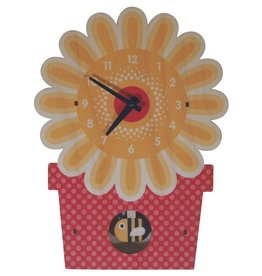 decor z modern moose flowerpot pendulum clock