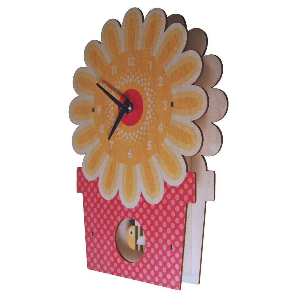 decor z modern moose flowerpot pendulum clock
