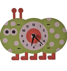 decor modern moose caterpillar wall clock