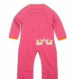 baby girl lucky jade pink elephant coverall