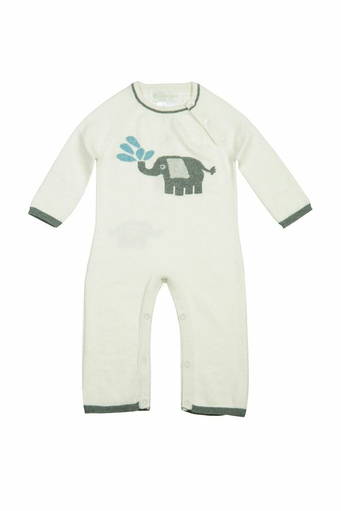 baby lucky jade ivory elephant coverall