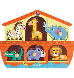 playtime Janod Noah's Ark Chunky Puzzle