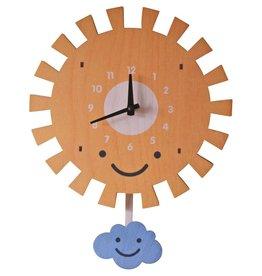decor modern moose sun pendulum clock