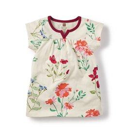 master tea collection flores pintadas split neck dress