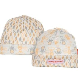 fashion accessory zz magnificent baby gray yoga monkey reversible hat