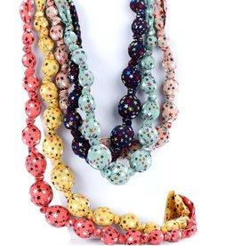 fashion accessory beaded cloth stars necklace