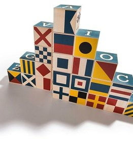 playtime wooden nautical blocks w/ canvas bag