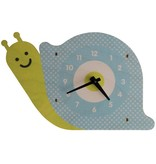 decor modern moose snail wall clock