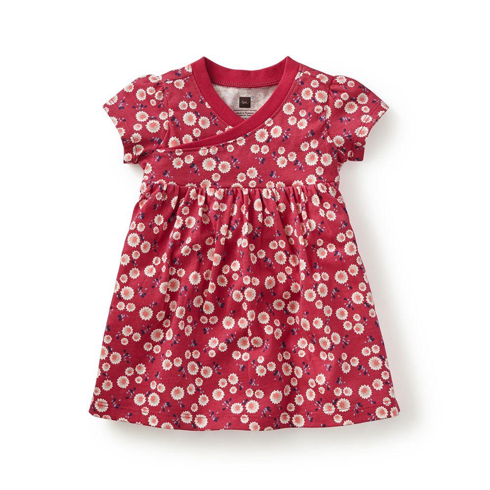 master tea collection, giacomo's garden wrap neck baby dress