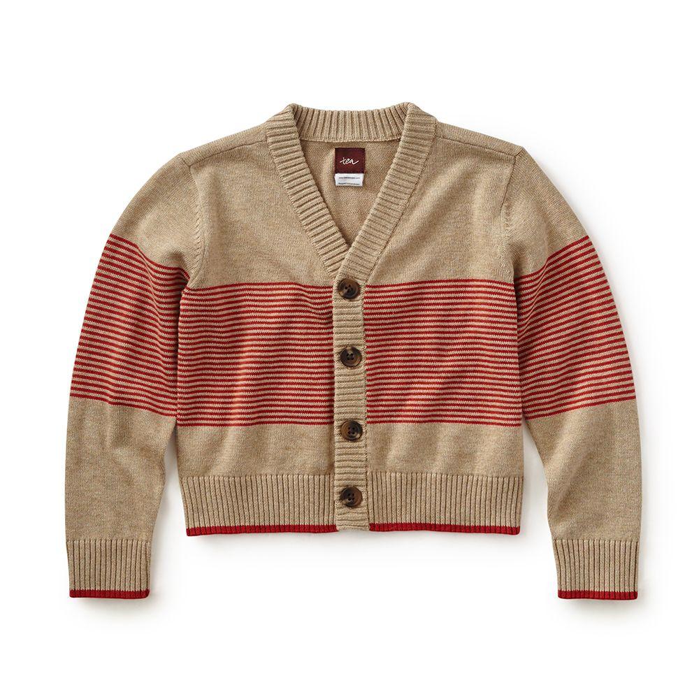 master tea collection, leonardo stripe baby cardigan