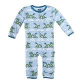 baby boy kickee pants printed coverall