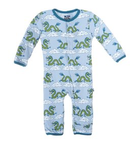 baby boy kickee pants printed coverall