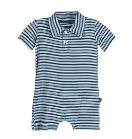 baby boy kickee pants boy printed polo romper
