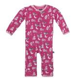 baby girl kickee pants girl printed coverall