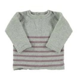 baby petit oh knitted round collar sweater