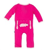 baby girl kickee pants applique coverall