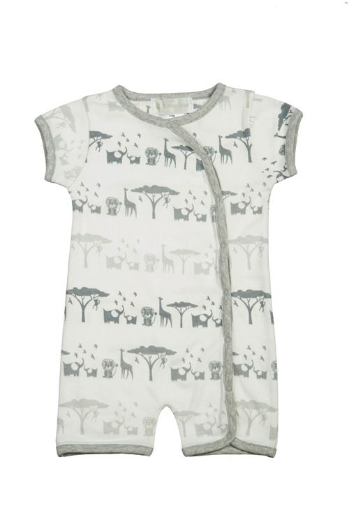 baby lucky jade safari short romper