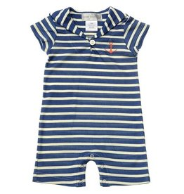 baby boy lucky jade boys stripe short romper