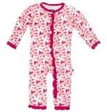 baby girl kickee pants print ruffle coverall