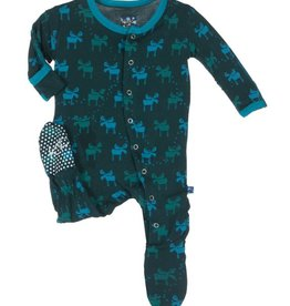 baby boy kickee pants boy print footie