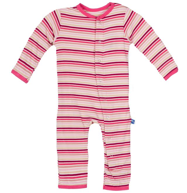 baby girl kickee pants girl fitted coverall