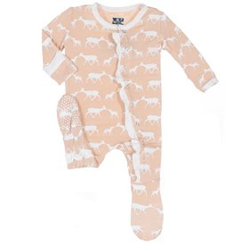 baby girl kickee pants girl print footie