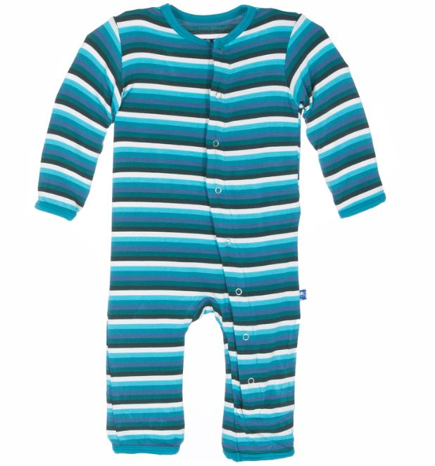 baby boy kickee pants boy print fitted coverall