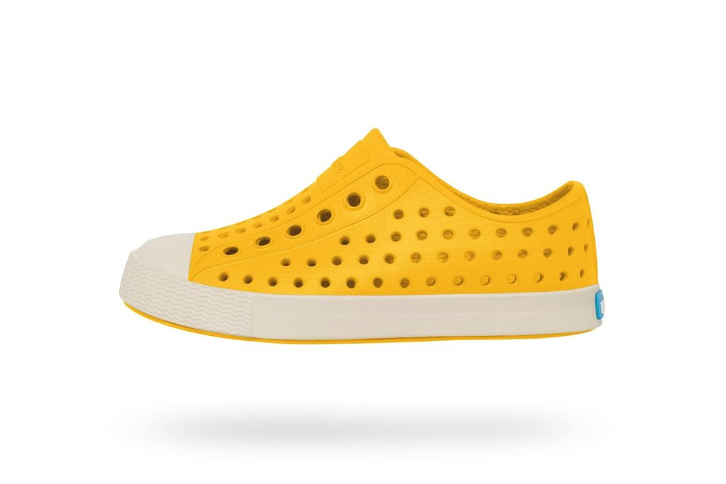 fashion accessory native jefferson shoes, canary yellow