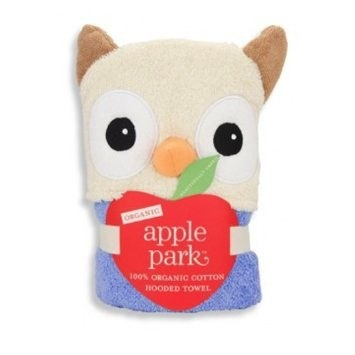 bath ap owl infant hooded towel