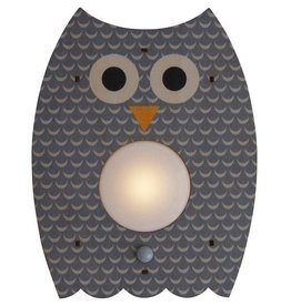 decor grey owl nightlight