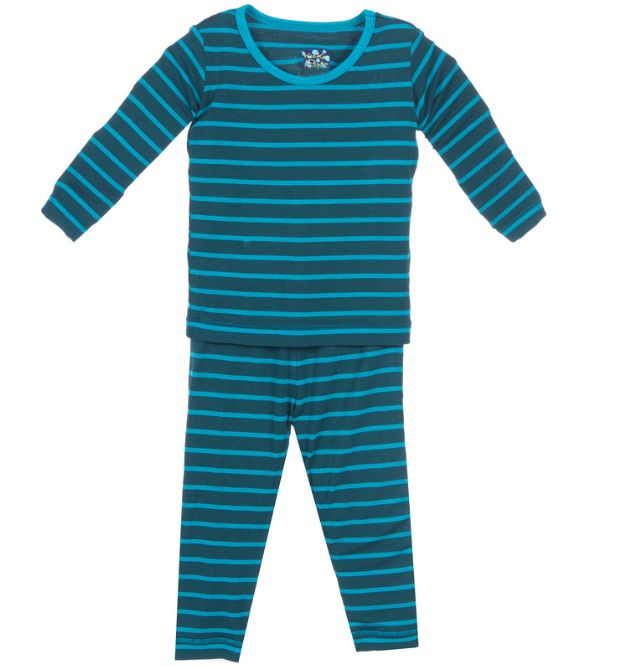 boy kickee pants boy ls pajama set