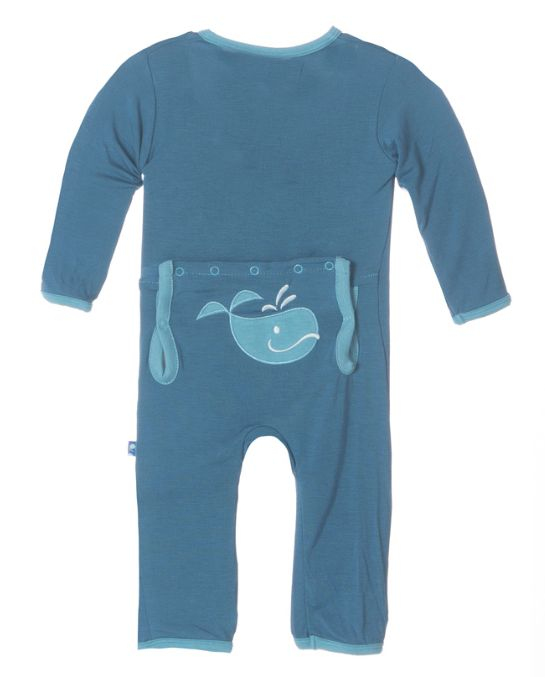 baby boy kickee pants boy fitted applique coverall