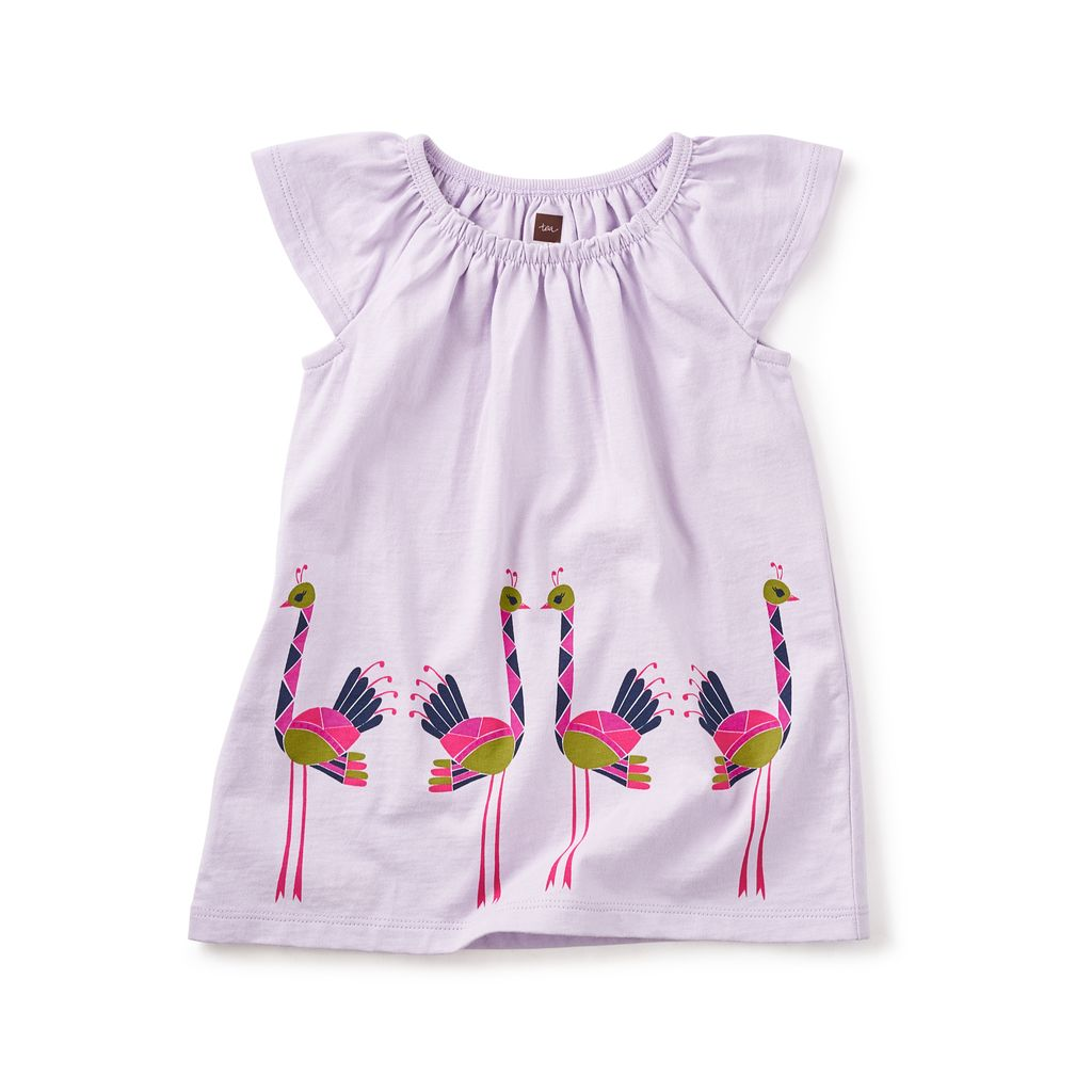 master tea collection ostriches graphic baby dress