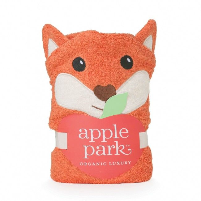 bath ap fox infant hooded towel