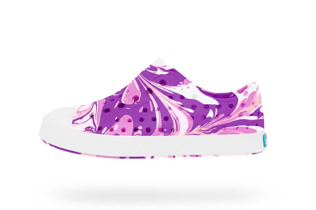 fashion accessory native jefferson shoes marble, orchid purple