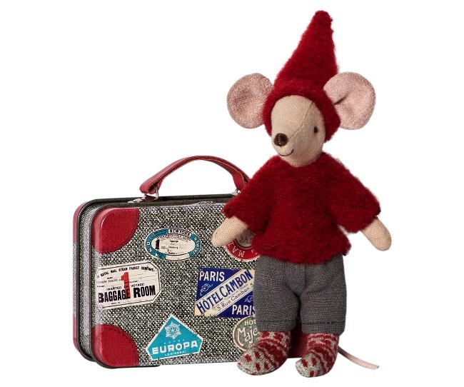 playtime Maileg travel pixy mouse in suitcase