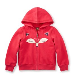 toddler girl tea collection kitsune zip hoodie