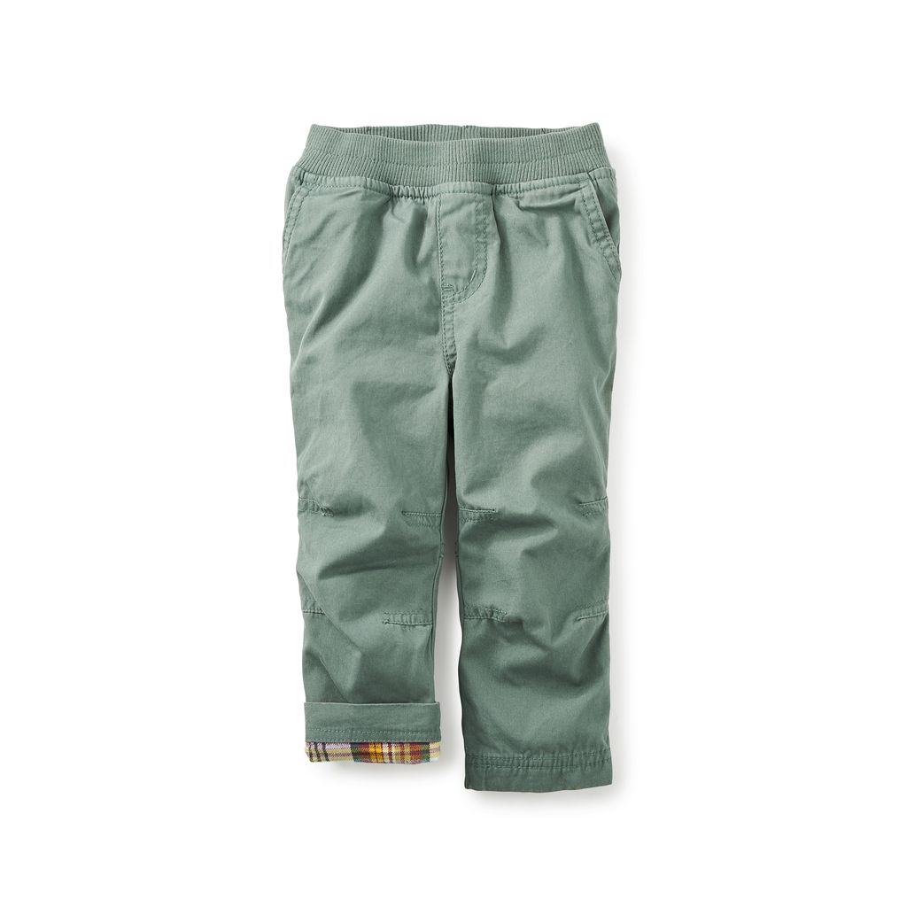 little boy tea collection flannel-lined baby pants