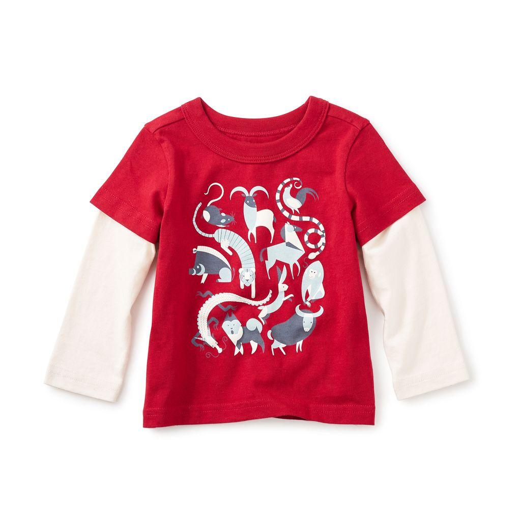 little boy tea collection zodiac graphic tee
