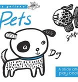 book wee gallery: pets, a slide and play book